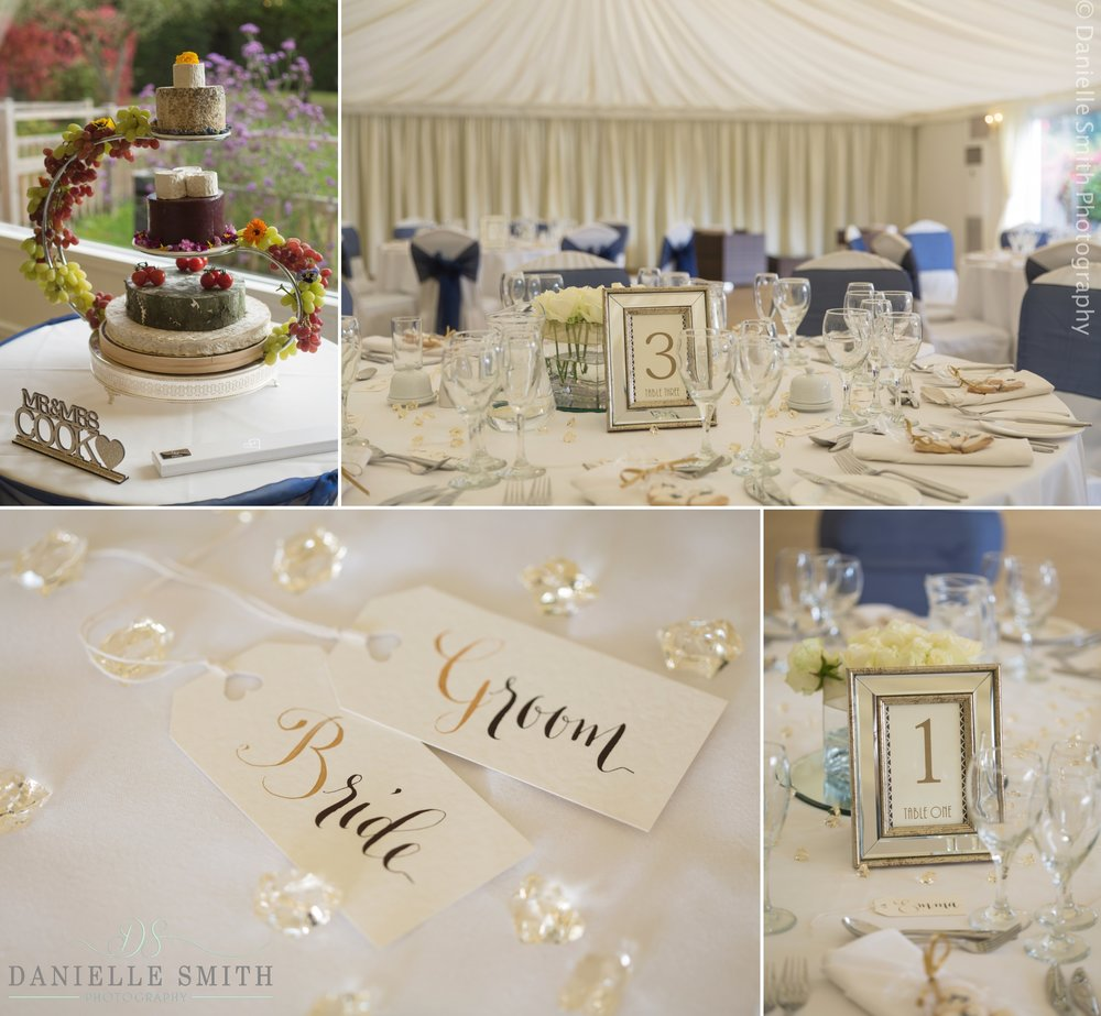 ivory wedding details at the fennes