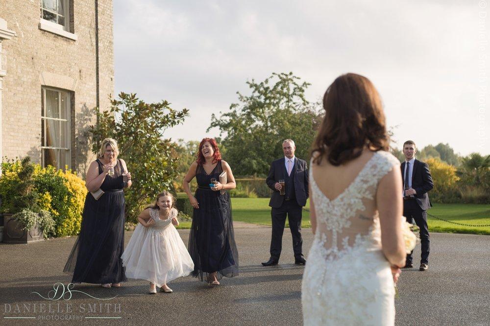 bridesmaids making jokes