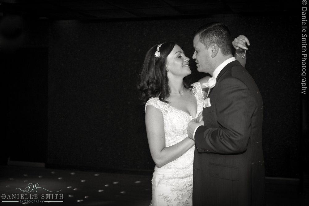 bride and groom first dance - fennes intimate wedding