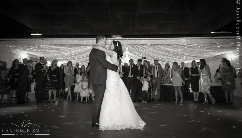 bride and groom first dance at fennes