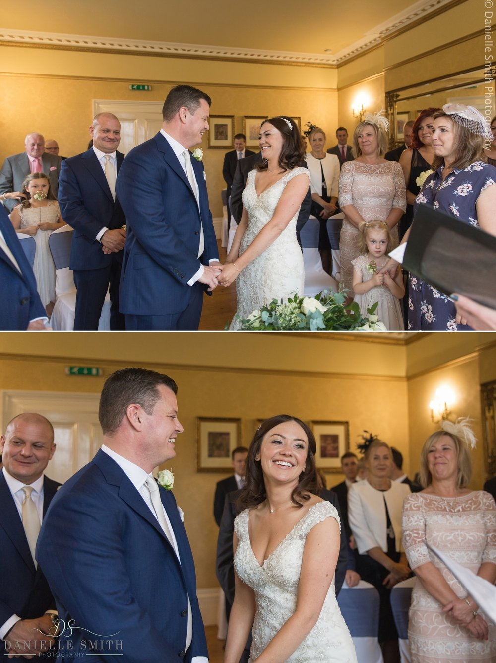 bride and groom getting married - fennes intimate wedding