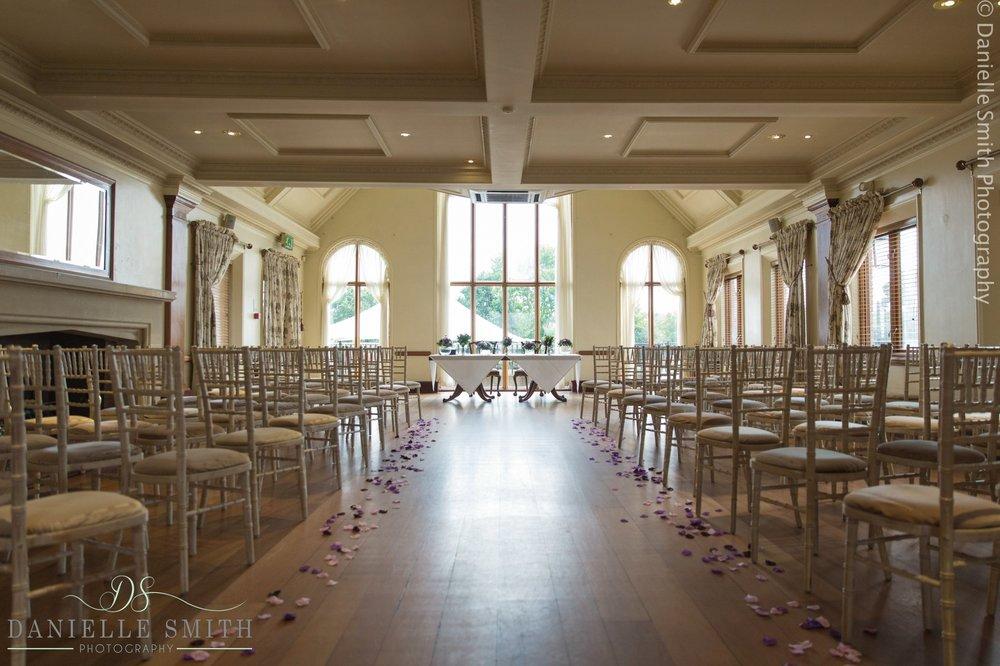 ceremony room decorated