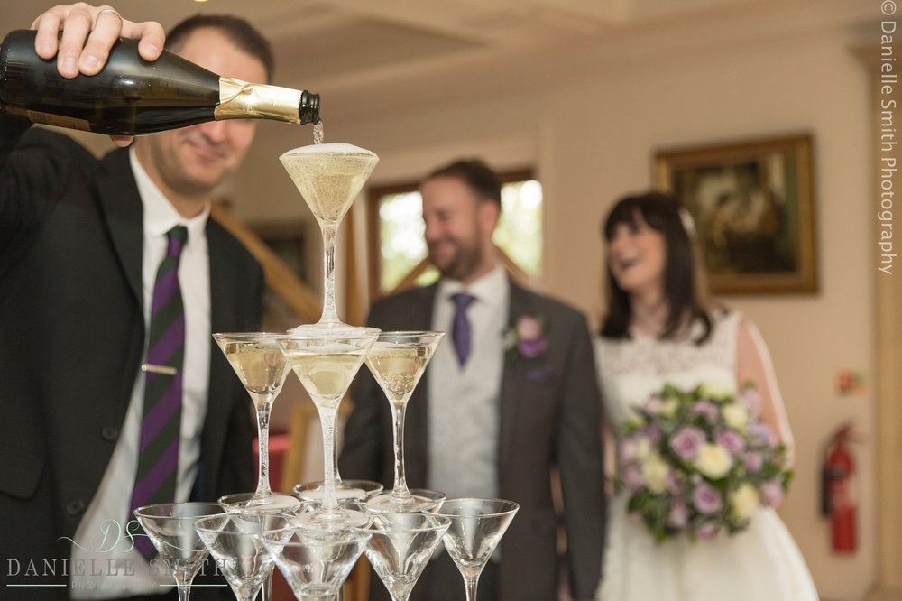 champagne waterfall - 1920s style wedding