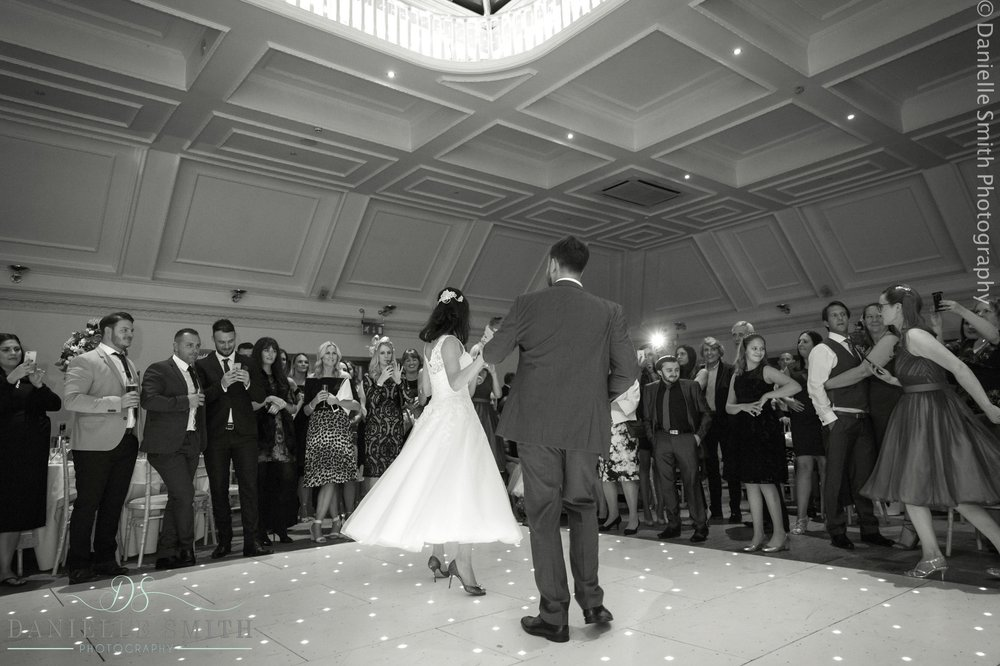 groom dancing with his wife