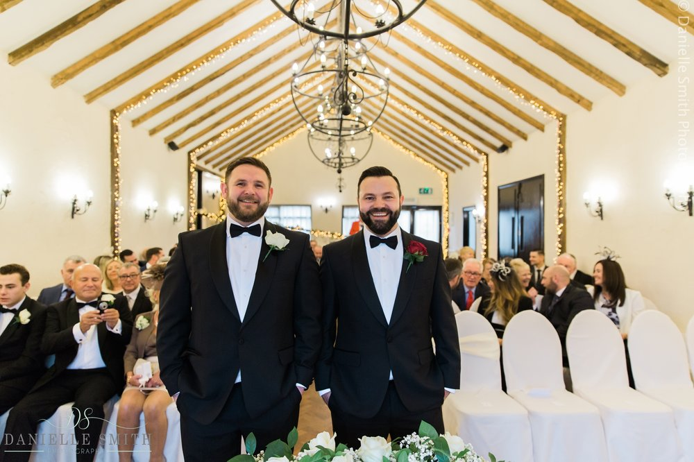 groom and best man waiting for bride to arrive