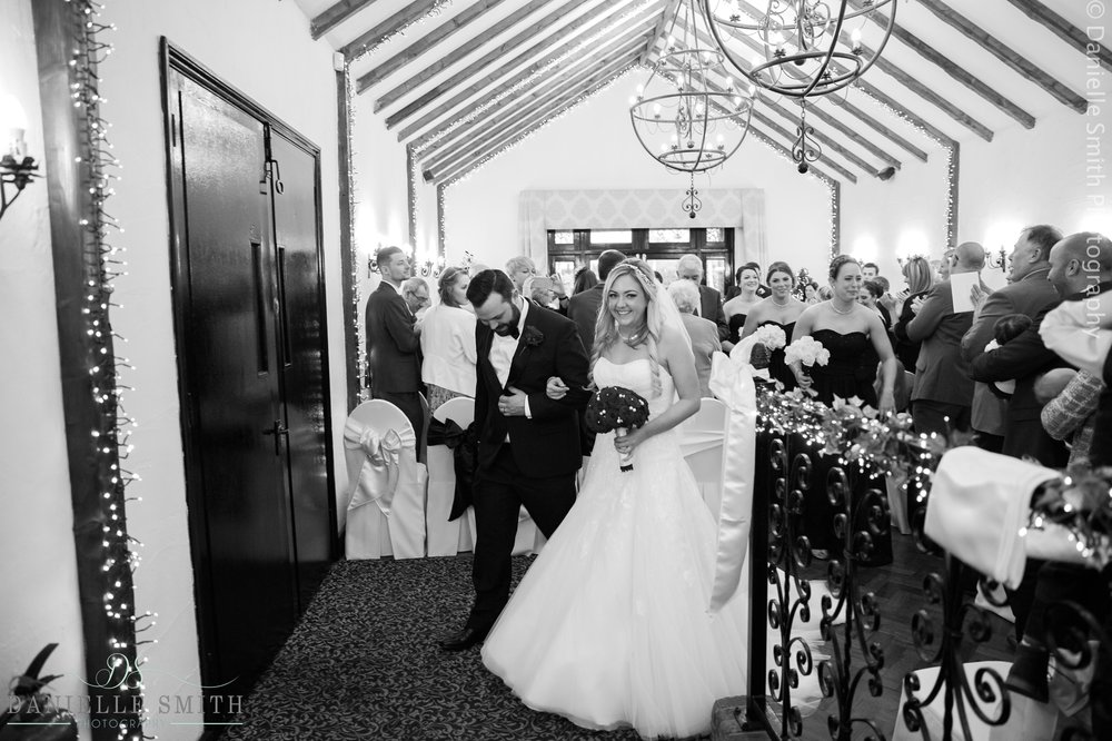 bride and groom just married - new years eve wedding