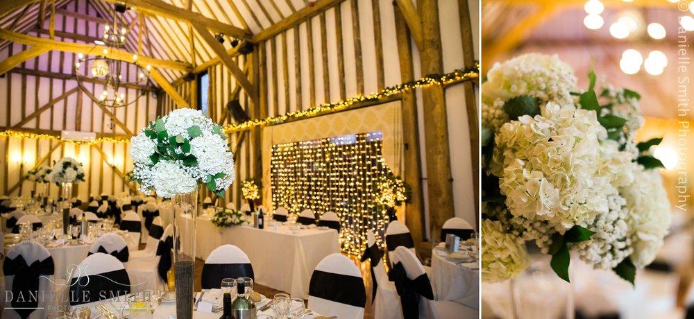 barn wedding venue in winter