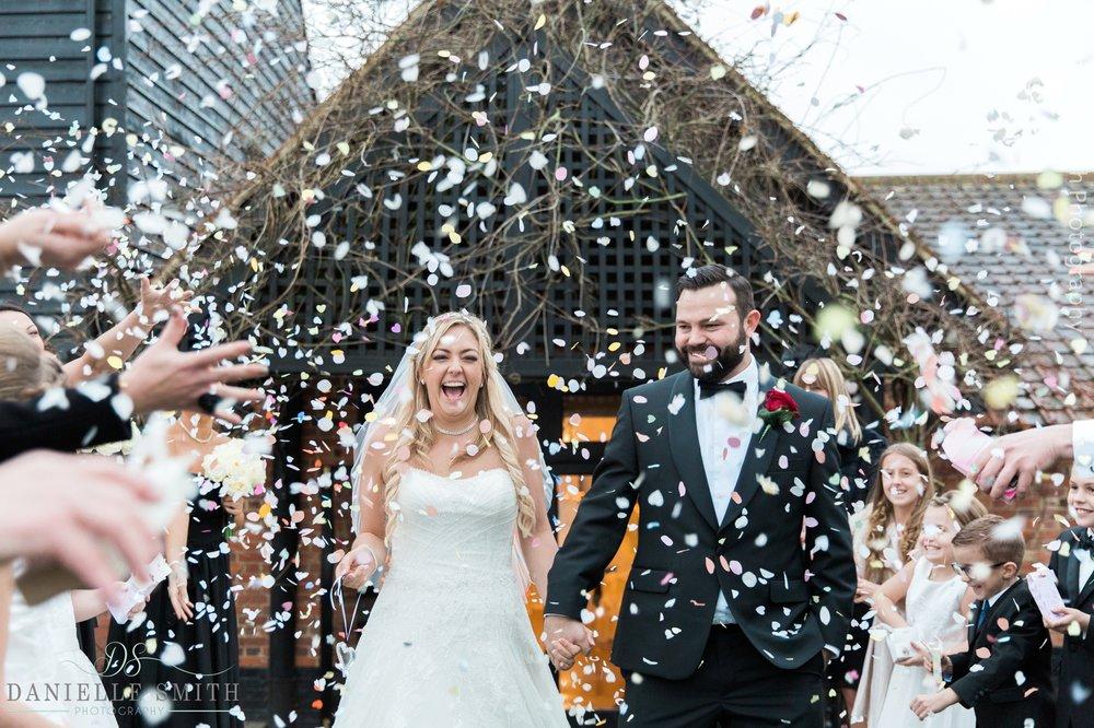 confetti photo - new years eve wedding