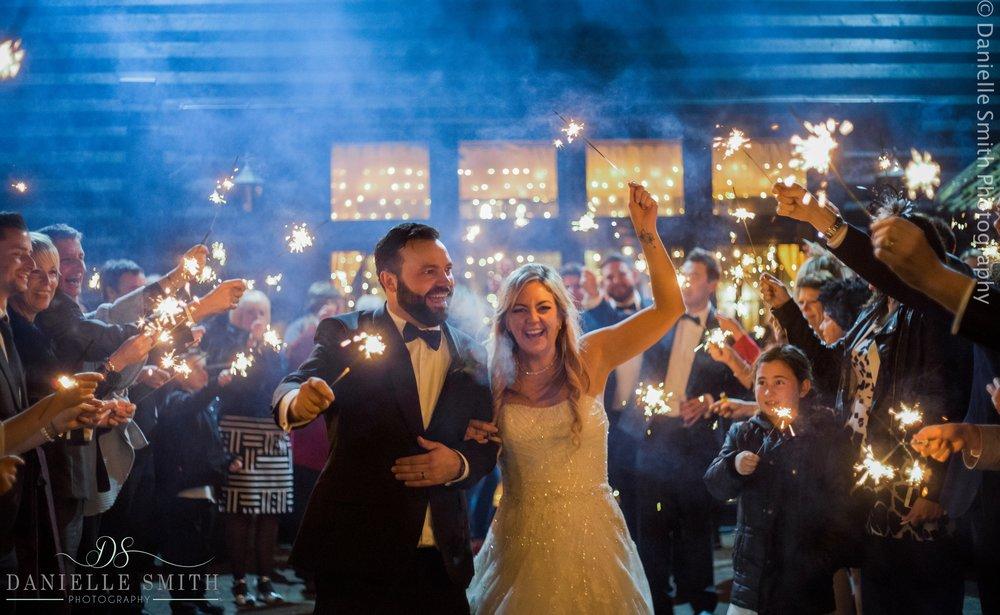 sparkler photo - new years eve wedding