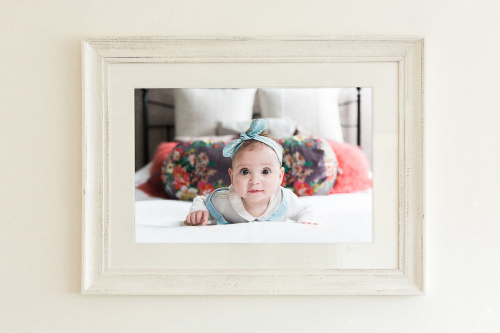photo frame of baby girl