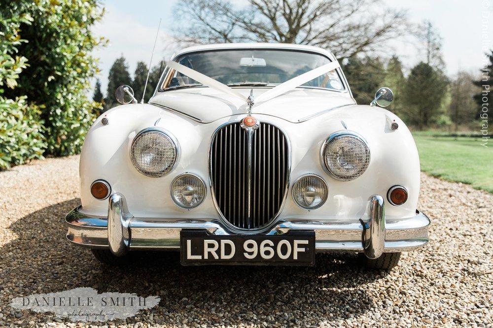 vintage wedding car - ingatestone hall wedding