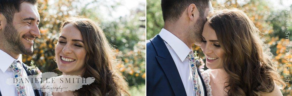 bride and groom close up photos