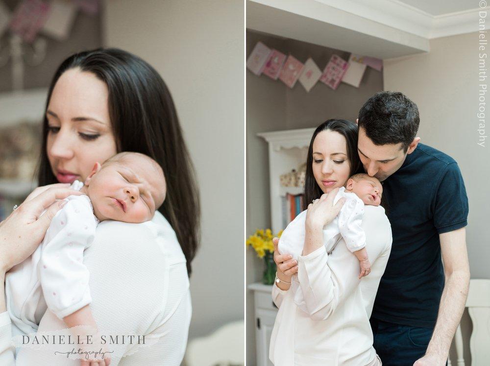 newborn baby photo shoot at home