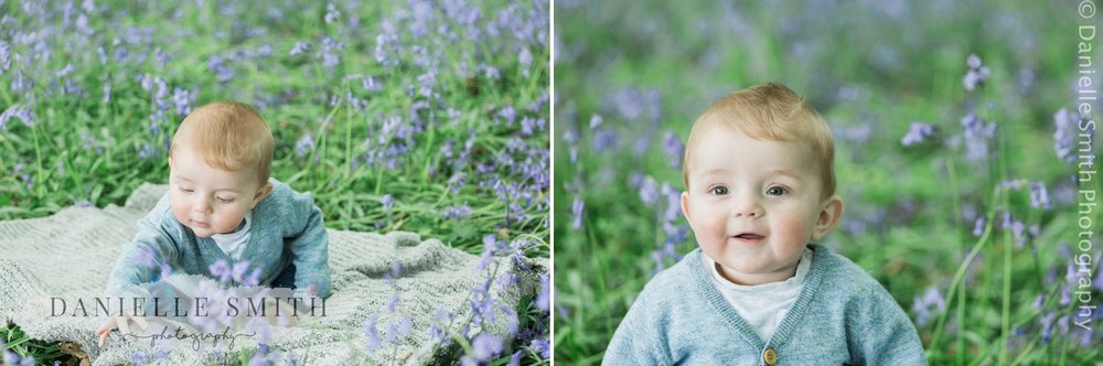 baby boy - bluebell family photo shoot