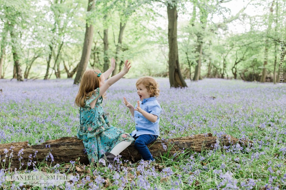 kids playing games in bluebells