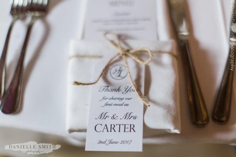 name setting at wedding