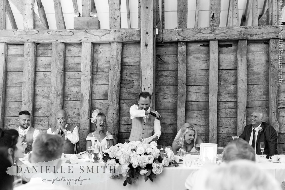 grooms speech - top table laughing