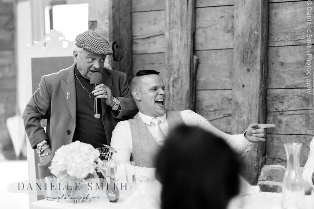 del boy impersonator at wedding
