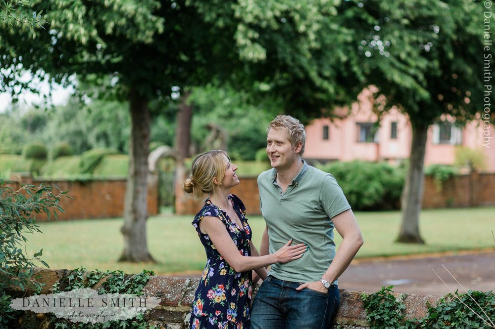 couple laughing in little easton