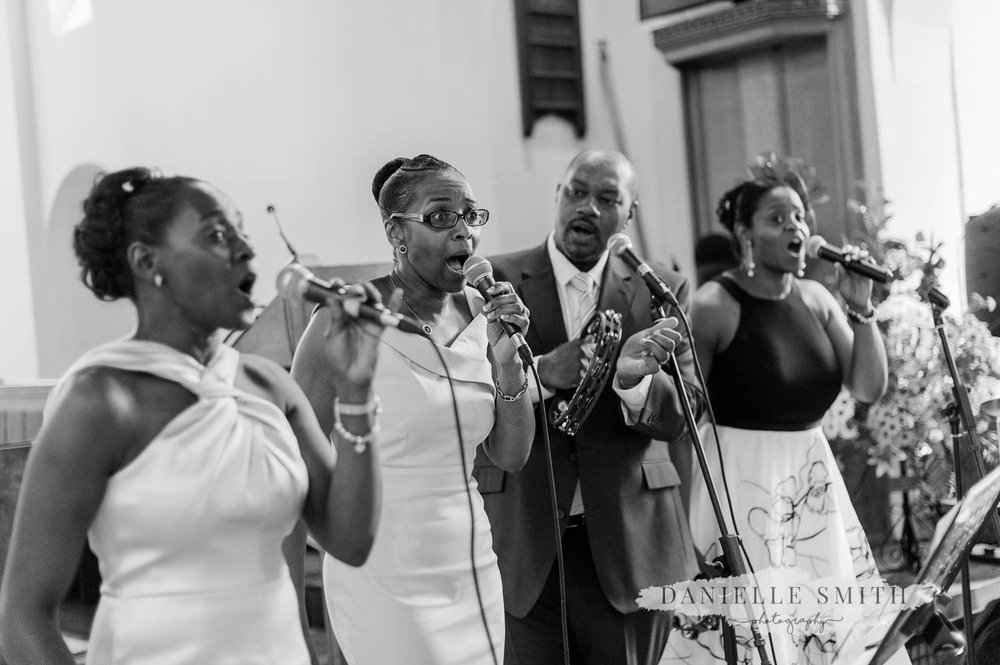 caribbean band singing in church