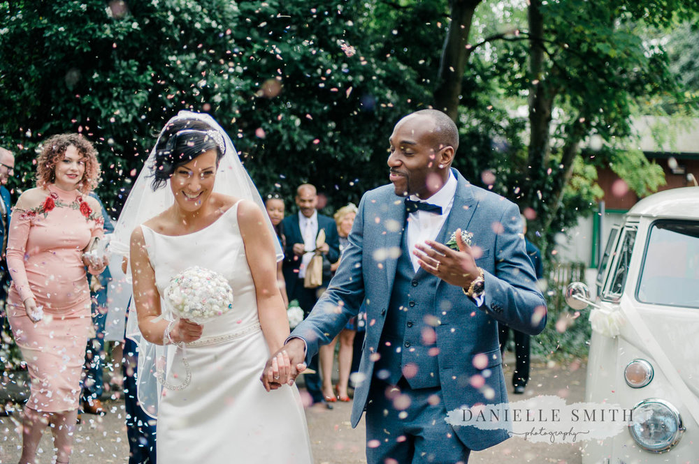 confetti photo - laid back wedding
