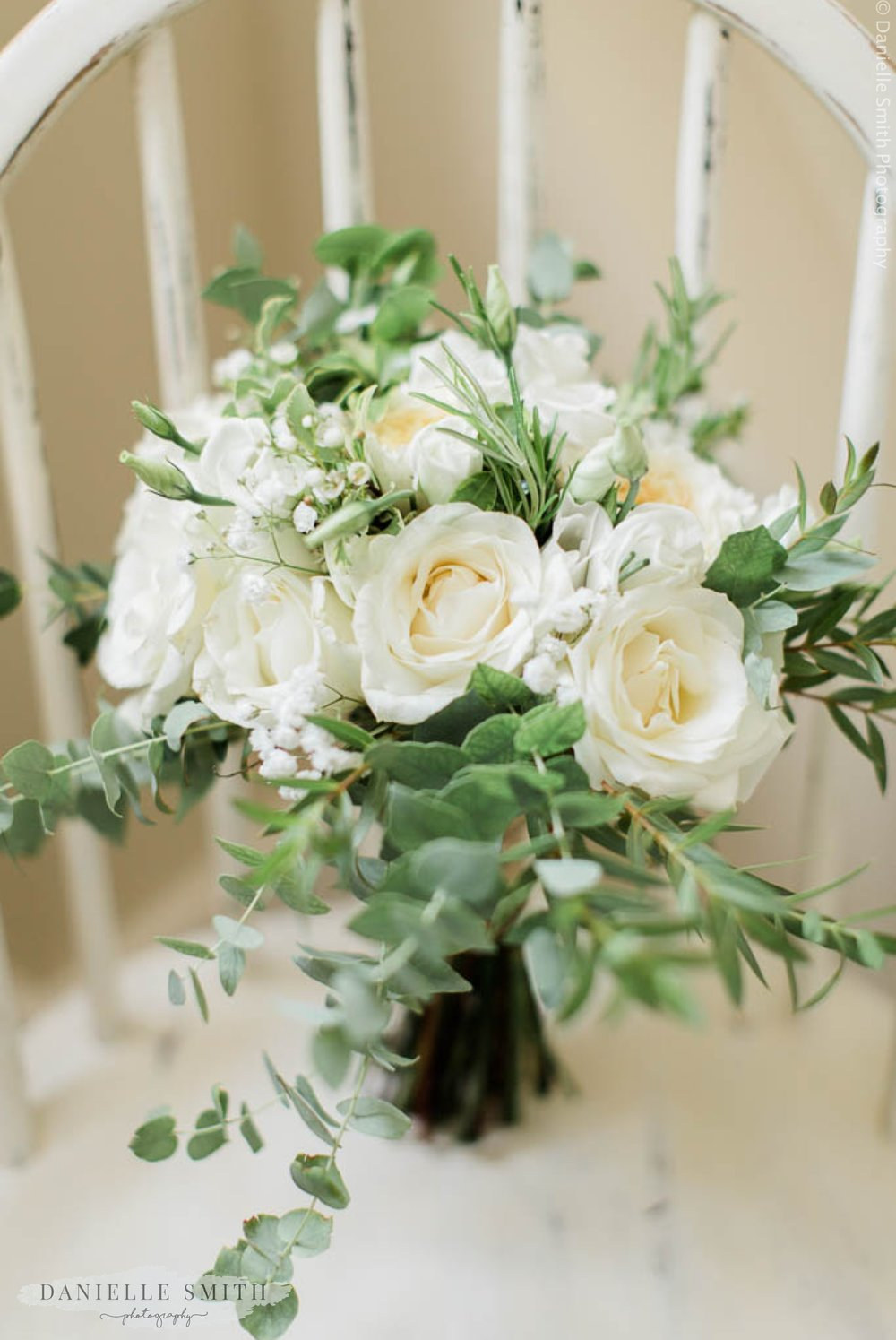 ivory green rustic bouquet