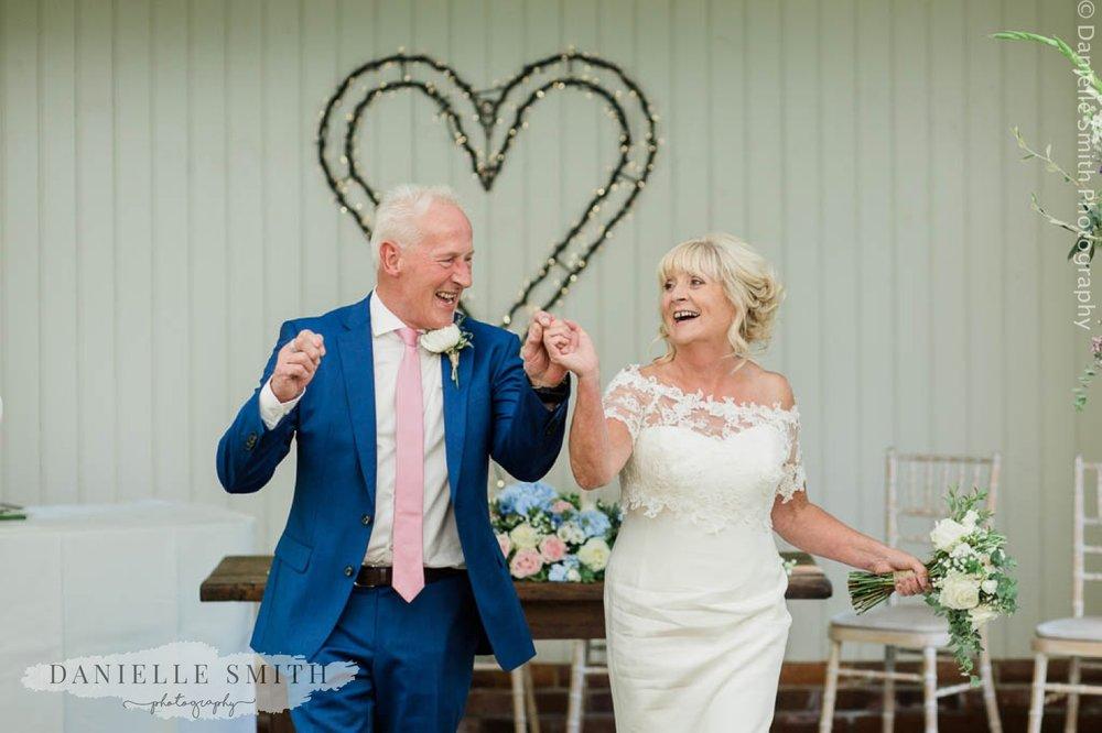 bride and groom dancing - houchins outdoor ceremony