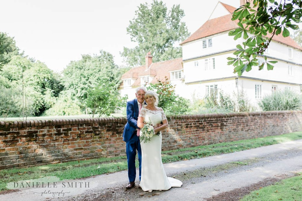 older bride and groom at houchins wedding venue