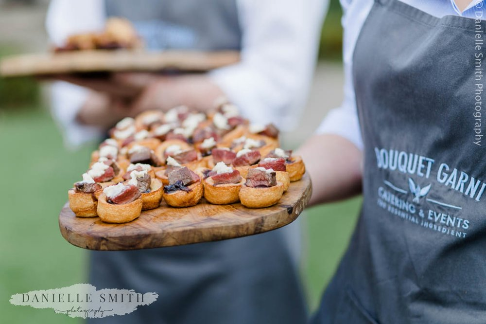yorkshire pudding canapés at houchins
