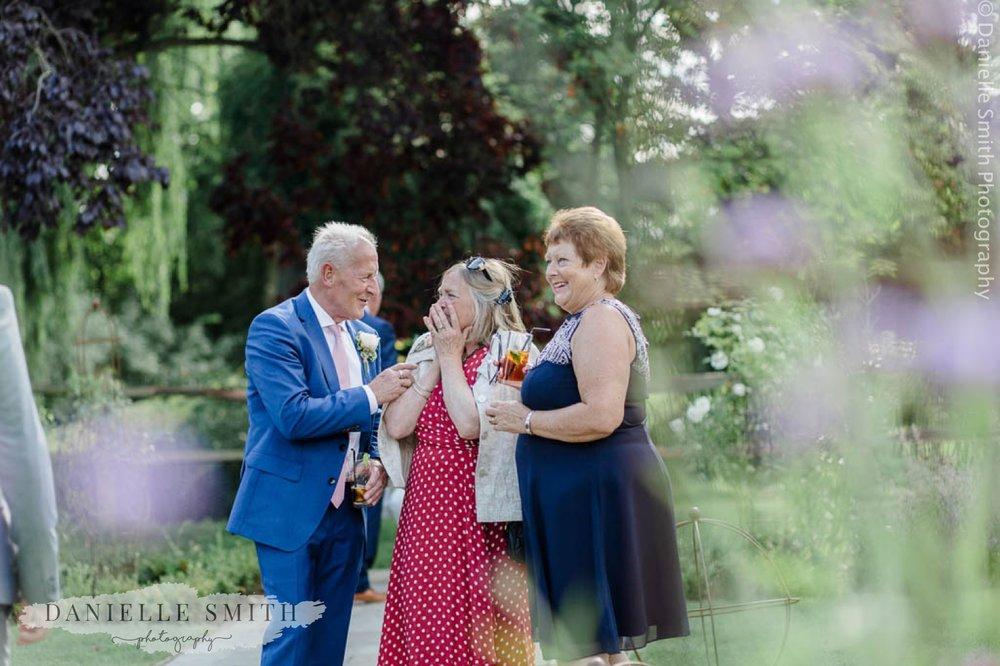 wedding guest looking shocked