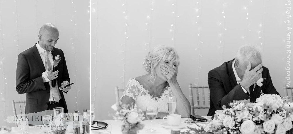 best man speech - bride and groom laughing