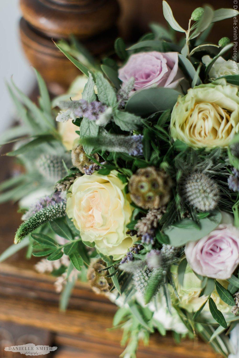 wild and romantic wedding bouquet