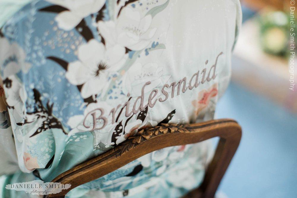 bridesmaid floral silk robe