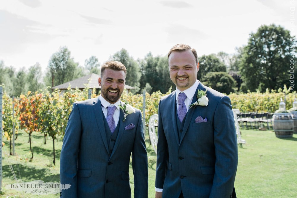 groom and best man at west street vineyard