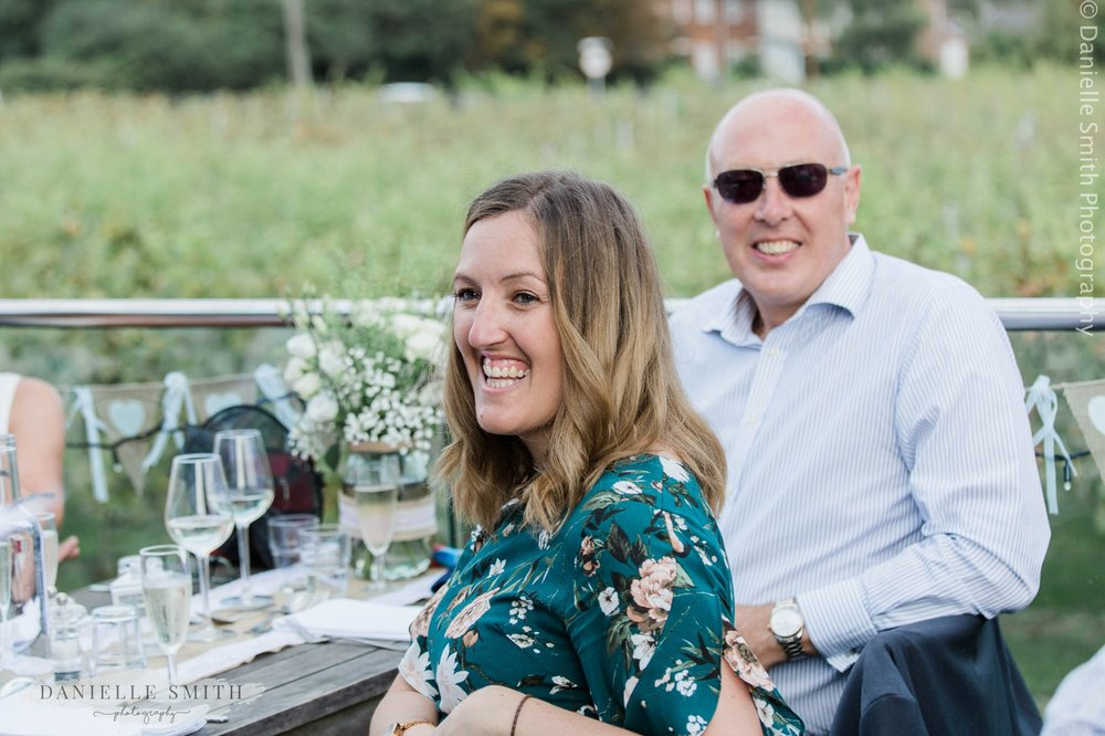 guest laughing at speeches - west street vineyard
