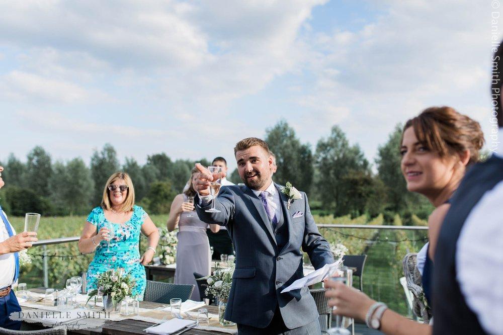 best man toasting speech - west street vineyard