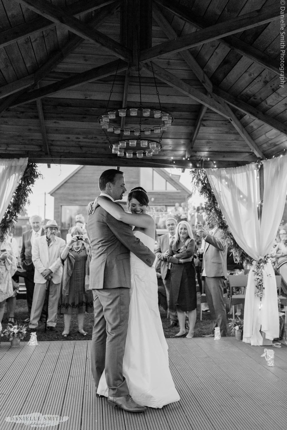 first dance outside at west street vineyard