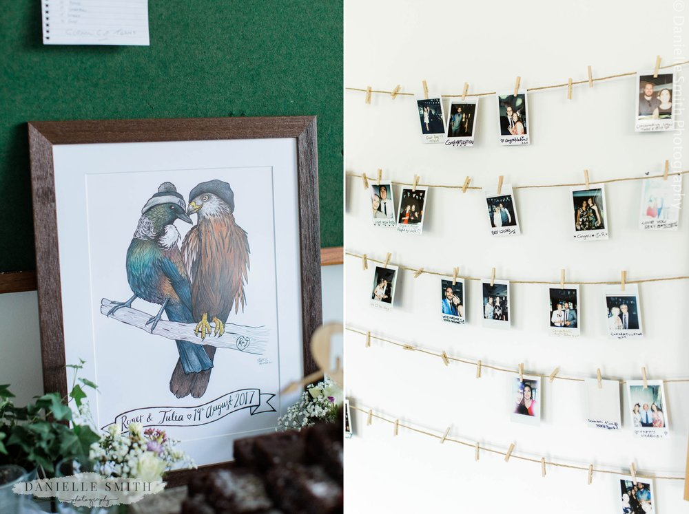 wedding gift and polaroid photos