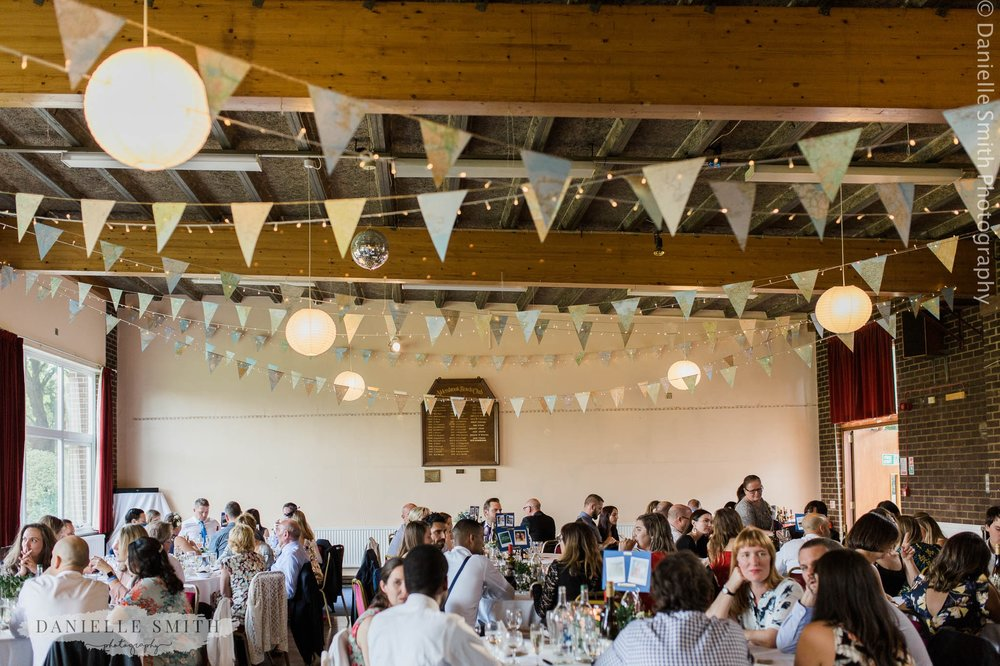bowls club wedding breakfast room