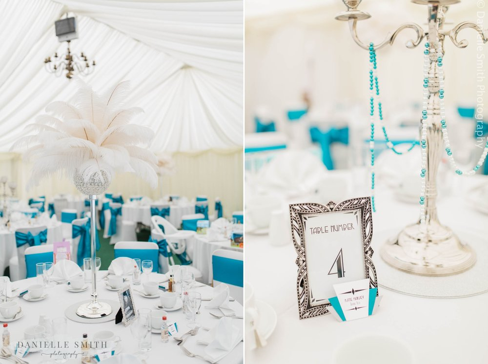 gatsby table decor for wedding