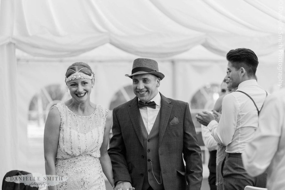 bride and groom entrance into reception - gatsby wedding