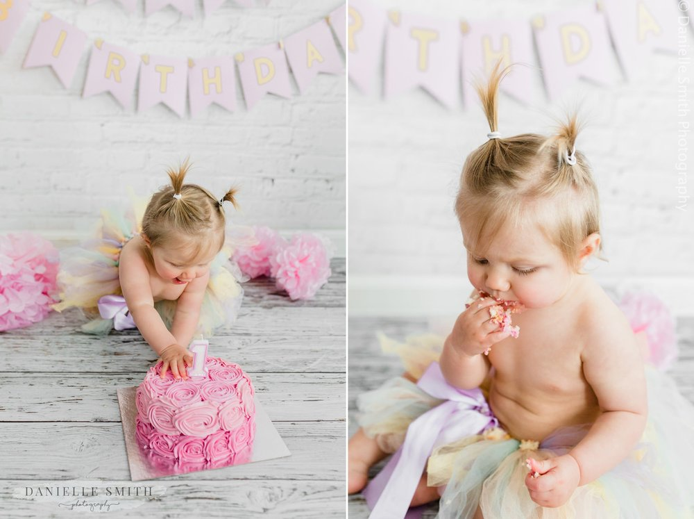 first birthday cake smash photography in essex