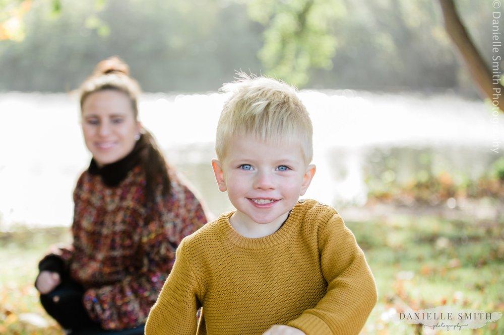 little boy smiling- family photos