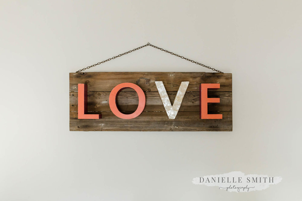 love sign at moreves barn