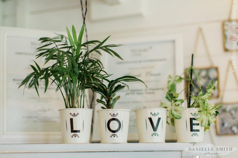 plove plant pots in florists workshop