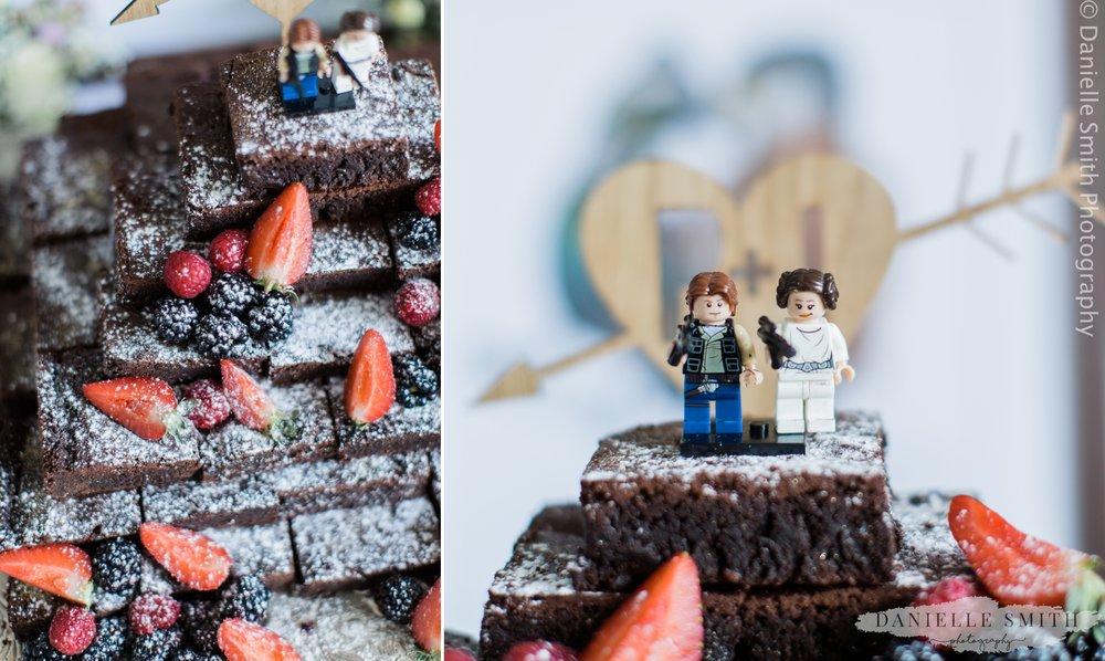 chocolate brownie stack wedding cake