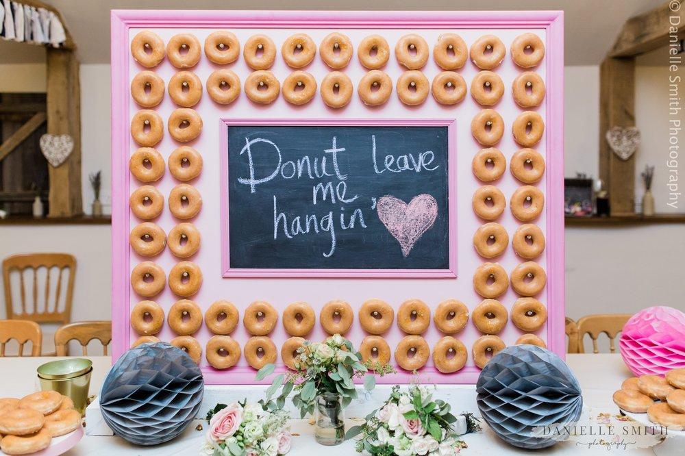pink donut wall wedding