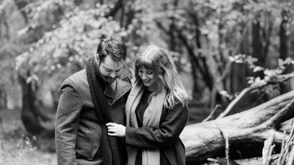 couple in woods - engagement photographer