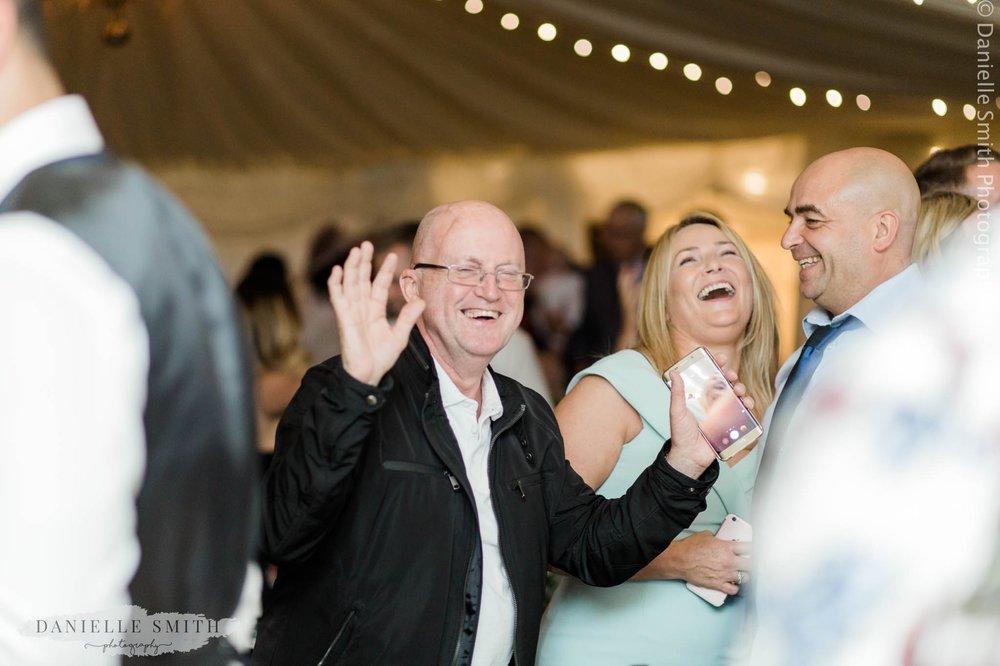 wedding guests having fun -intimate wedding