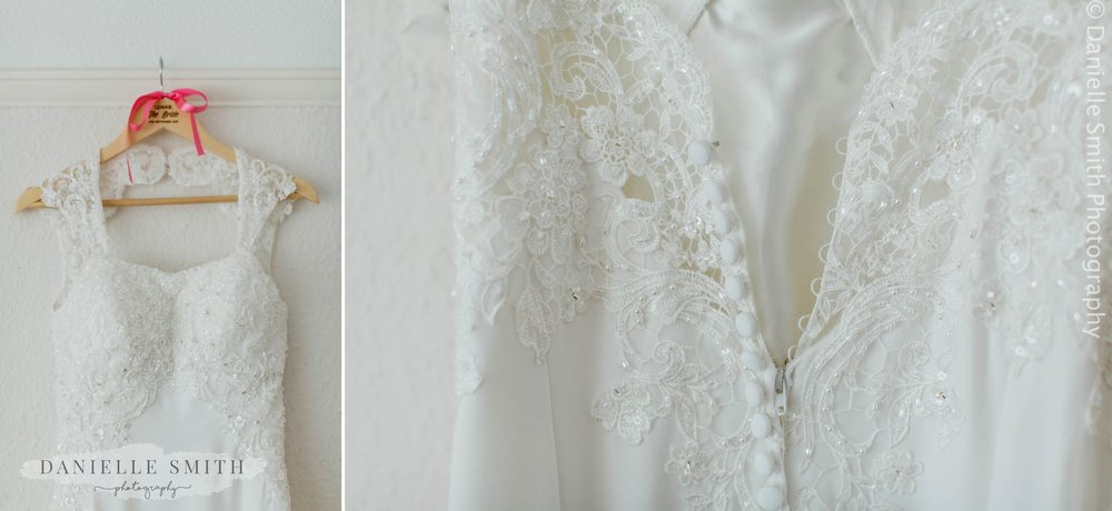 lace and embellished wedding dress
